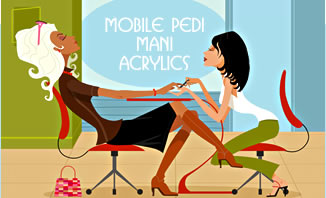 Mobile Pedicures, Manicures and Acrylics